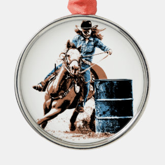 Barrel Racing Christmas Ornaments