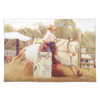 Barrel Racing Placemat