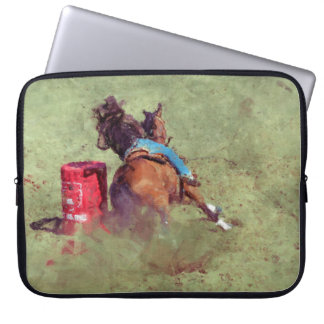 Barrel-Racing Rodeo Cowgirl Designer #Gift Laptop Sleeve