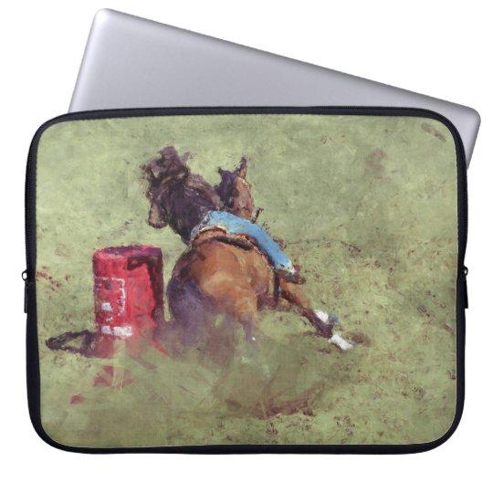 Barrel-Racing Rodeo Cowgirl Designer #Gift Laptop Sleeve