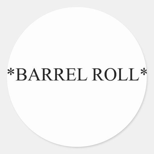 Barrel Roll 6 Classic Round Sticker