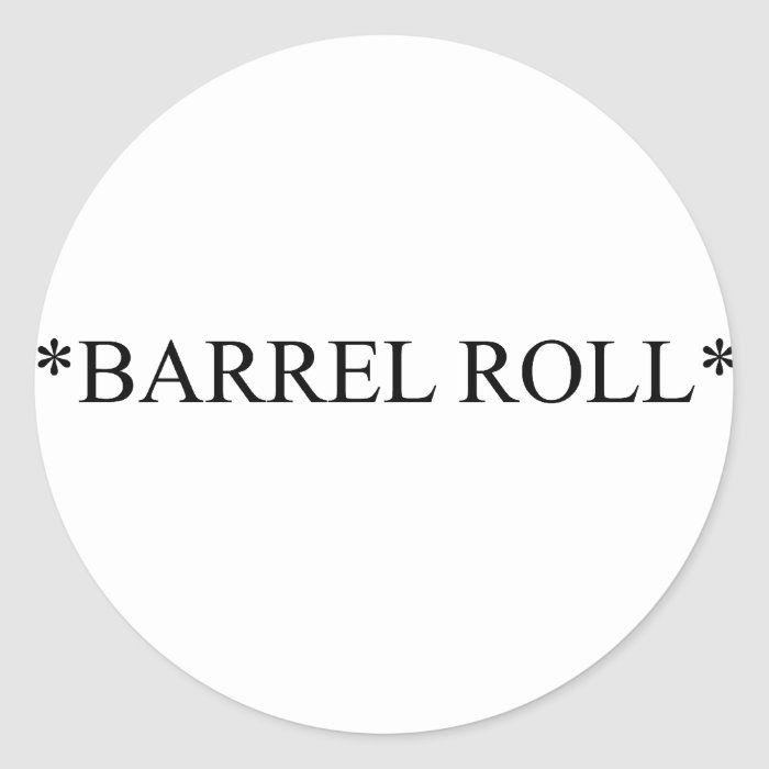 Barrel Roll 6 Round Sticker