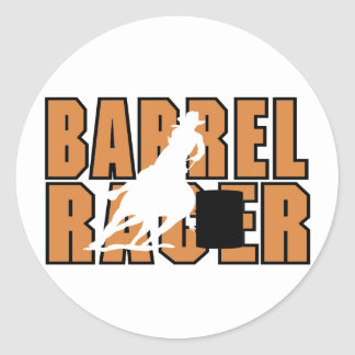 Barrell Racer T-shirts and Gifts. Classic Round Sticker