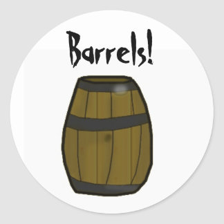 Barrels Pewdie sticker! Classic Round Sticker