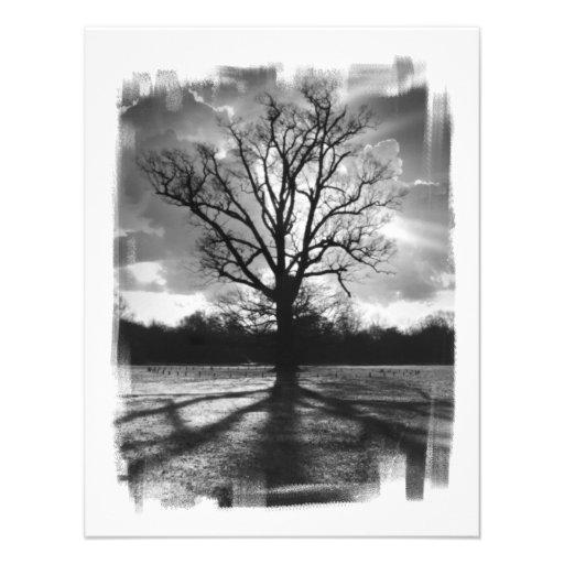 Barren Branches Tree Personalized Invitations