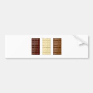 Barres de chocolat autocollant de voiture