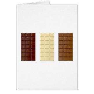 Barres de chocolat carte de vœux