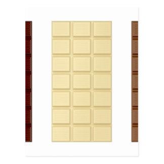 Barres de chocolat carte postale