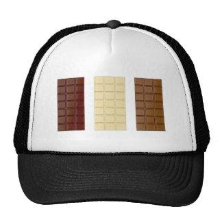 Barres de chocolat casquettes