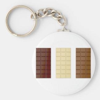 Barres de chocolat porte-clé rond