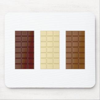 Barres de chocolat tapis de souris