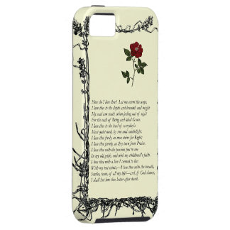Barrett Browning, Sonnets from the Portuguese # 43 iPhone 5 Case