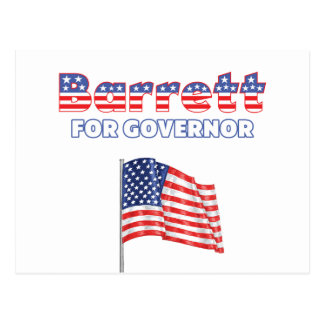 Barrett for Governor Patriotic American Flag Postcard