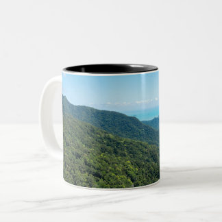 Barron Gorge Canopy and Coral Sea Two-Tone Coffee Mug