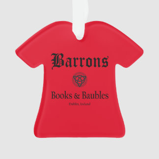 Barrons Books and Baubles Christmas Ornament