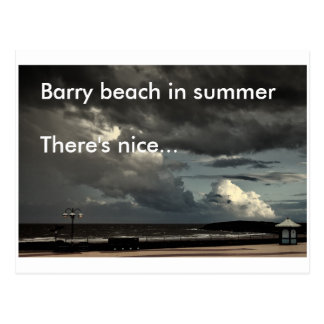 Barry beach in summer postcard