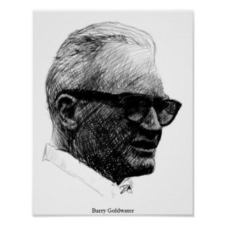 Barry Goldwater Sketch Poster