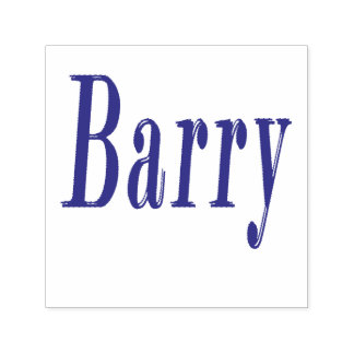 Barry, Name Logo, Self-inking Stamp