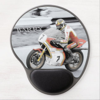 Barry Sheene 2, the hand tinted version Gel Mouse Pad