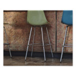 Barstools and Copper Photo Art