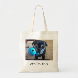 Bart the pug tote bag