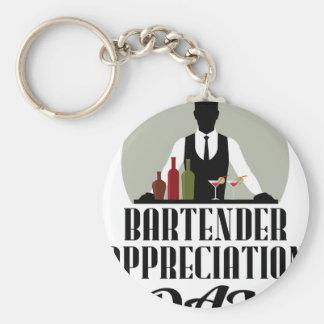 Bartender Appreciation Day Basic Round Button Keychain