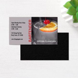 Bartender Bar Pub Owner Cocktail Drink Business Card
