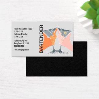 Bartender Bar Pub Owner Martinis Business Card