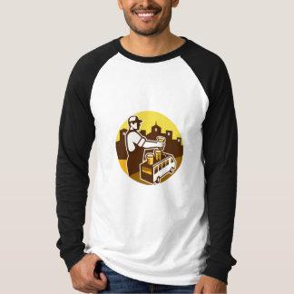 Bartender Beer City Van Circle Retro T-Shirt