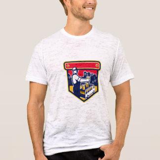 Bartender Beer City Van Crest Retro T-Shirt