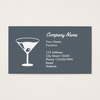 Bartender business card with cocktail glass logo