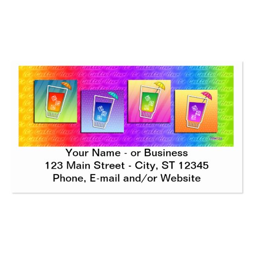 Bartender, Cocktail Business Card