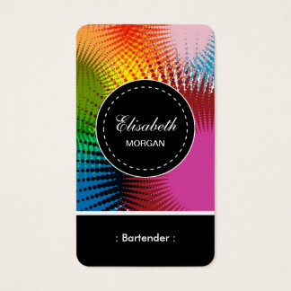 Bartender- Colorful Abstract Pattern Business Card