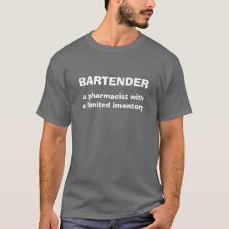 Bartender Definition Humor Tee Shirt