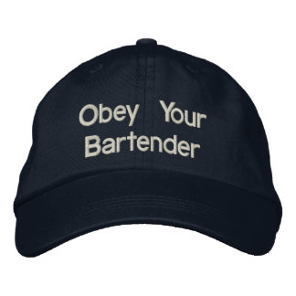 Bartender Hats - Obey Your Bartender Embroidered Hats
