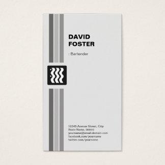 Bartender - Modern Black White Business Card