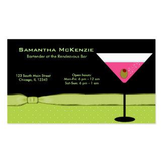 Bartender/Owner Bar Business Card Template