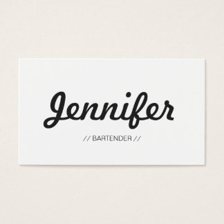 Bartender - Stylish Simple Concise Business Card