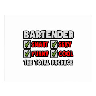 Bartender ... The Total Package Postcard