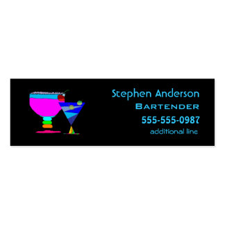 Bartenders Cocktails Business Cards