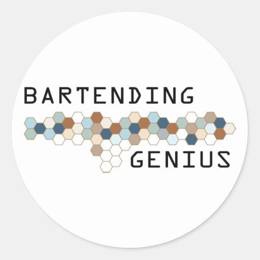 Bartending Genius Round Stickers