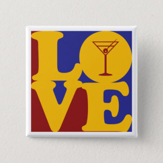 Bartending Love 2 Inch Square Button