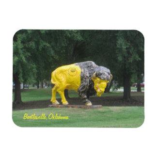 Bartlesville,Oklahoma bison statue Magnet