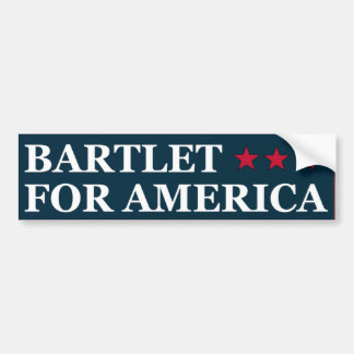 Bartlet For America Bumper Sticker