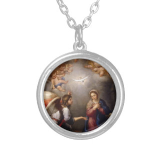 Bartolomé_Esteban_Perez_Murillo Silver Plated Necklace