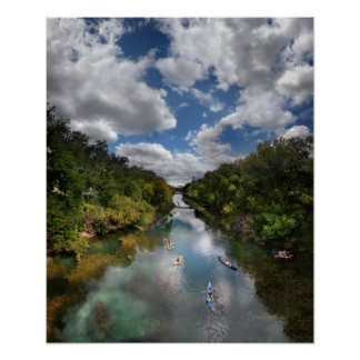 Barton Creek Kayaks - Austin Texas Poster
