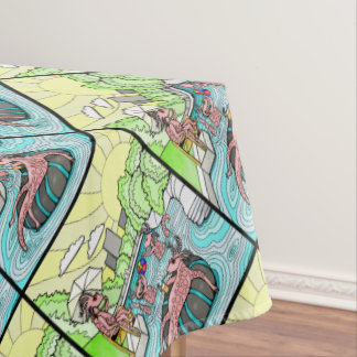 Barton Creek Salamanders Color Design Tablecloth