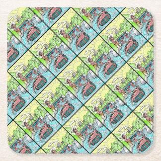 Barton Creek Salamanders Color Square Paper Coaster