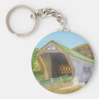 Bartonsville Covered Bridge Basic Round Button Keychain