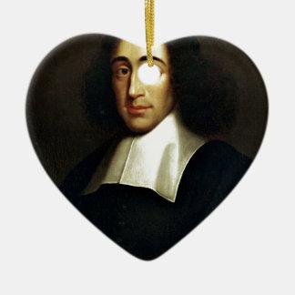 Baruch Spinoza Ceramic Heart Ornament